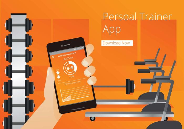 Personal Trainer App Free Vector