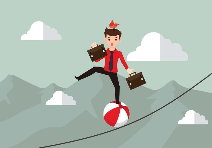 Tightrope work free vector