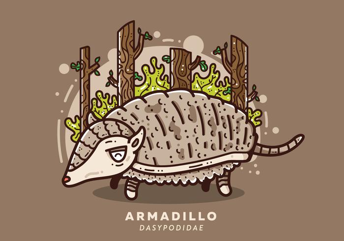 Free Armadillo Vektor