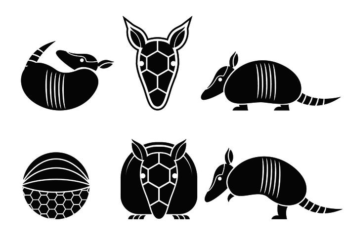 Armadillo Logo Silhouette Vector