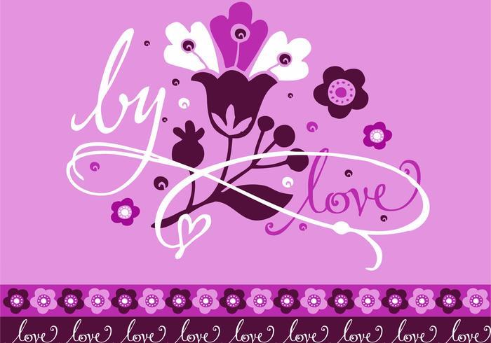 Lila romantischer Karten-Entwurf
