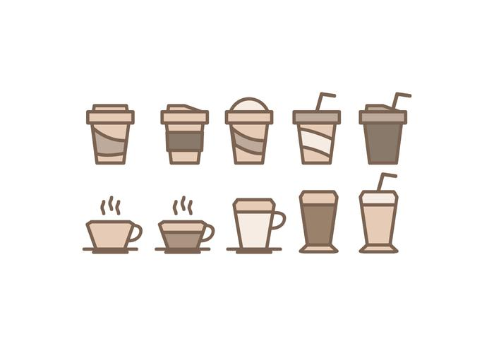Vector Coffee Cups Icons