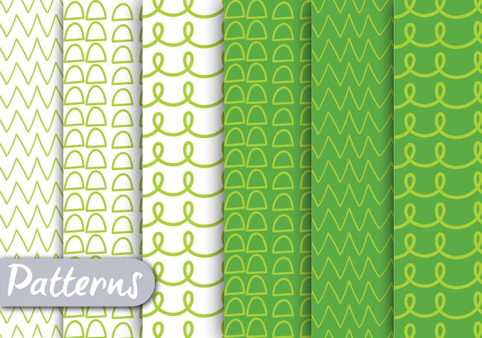 Green Lined Pattern Set