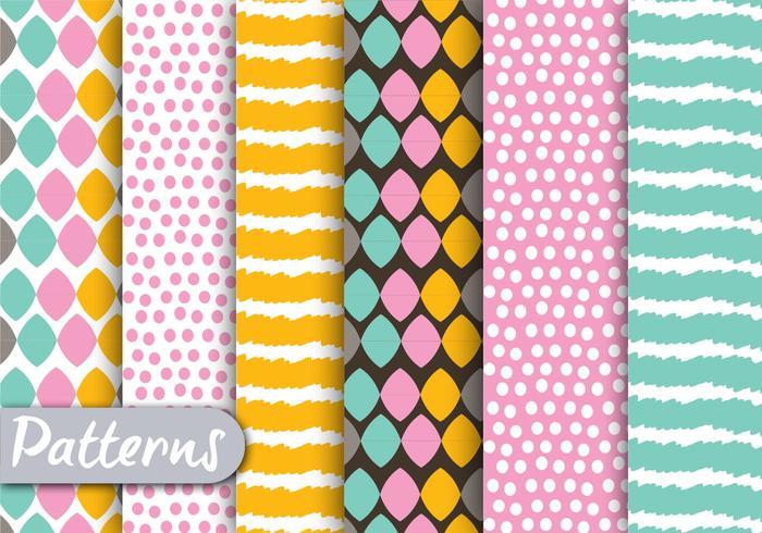Kleurrijke patroon set