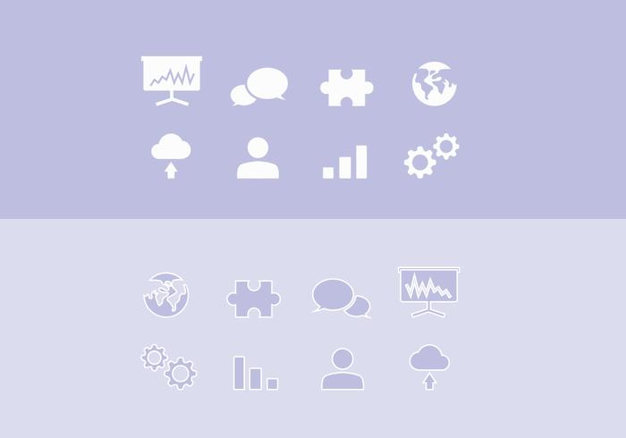 Vector corporate icon set