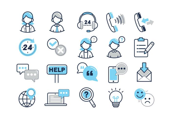 Customer Services Vector Icons