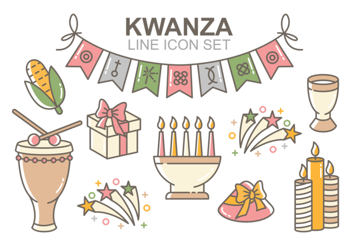 Kwanzaa Icons Vector