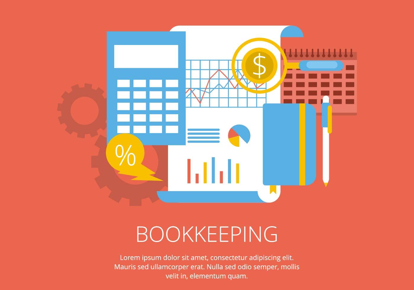 Bookkeeping Illustration Download Free Vector Art Stock