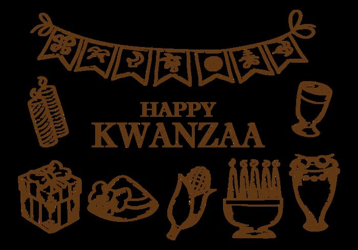 Hand getekende Kwanzaa Pictogrammen Vector