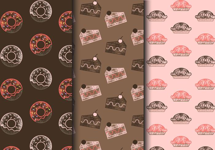 Gratis Vintage Sweets Patterns