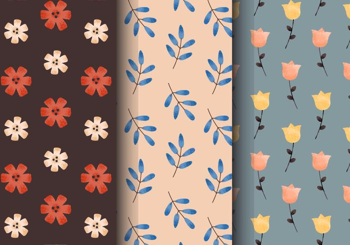 Free Vintage Floral Patterns vector