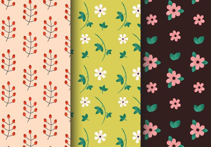 Gratis Vintage Bloemenpatronen