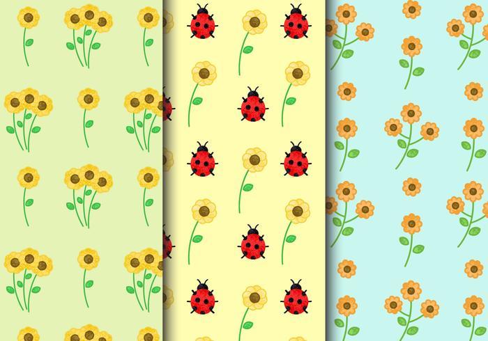 Patrones florales libres de la vendimia vector