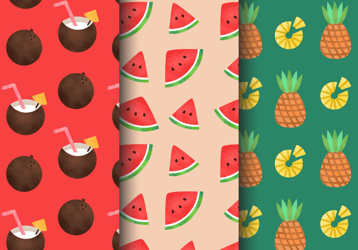 Free Vintage Summer Holiday Patterns vector