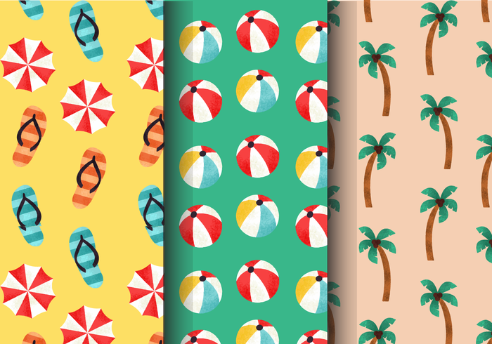 Gratis Vintage Summer Holiday Patterns