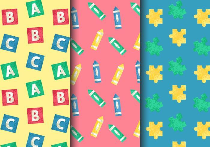 Motifs de jouets pour enfants vintage gratuits