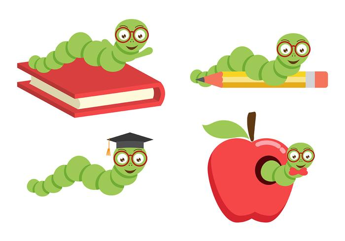 Bookworm Vector Pack