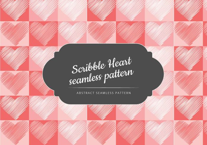 Vector Scribble Heart Seamless Pattern