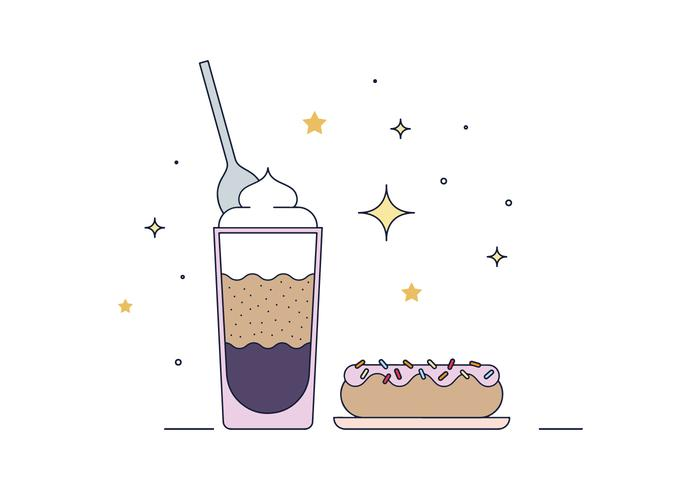 Free Coffee And Donuts Vector