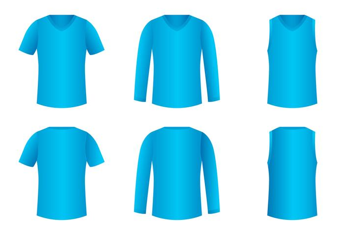V-neck shirt template vecteur gratuit