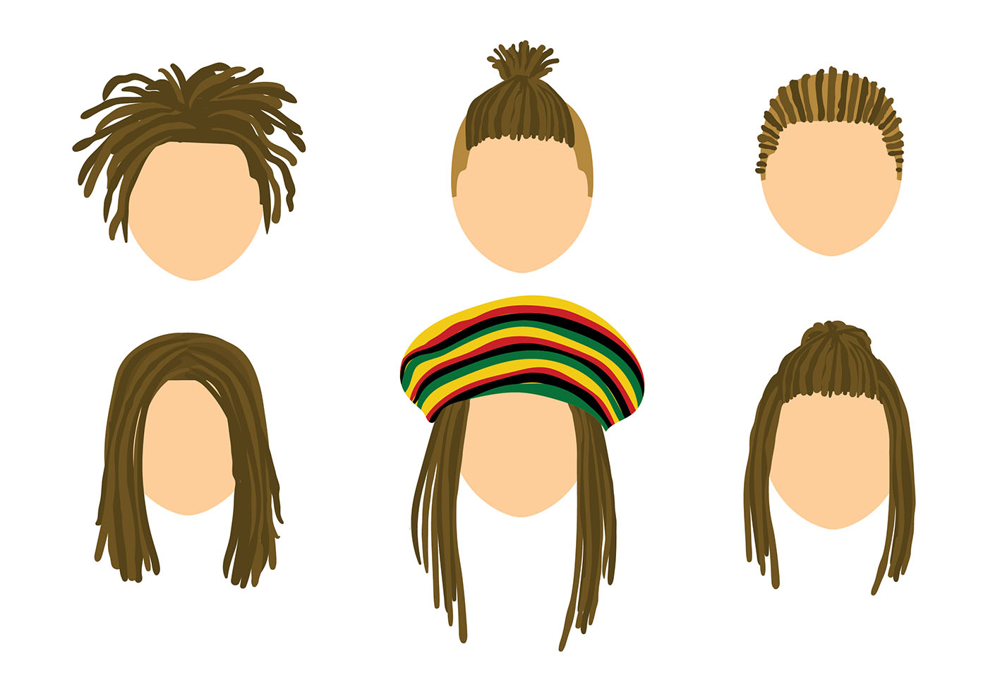 Dreads Template Free Vector Download Free Vectors