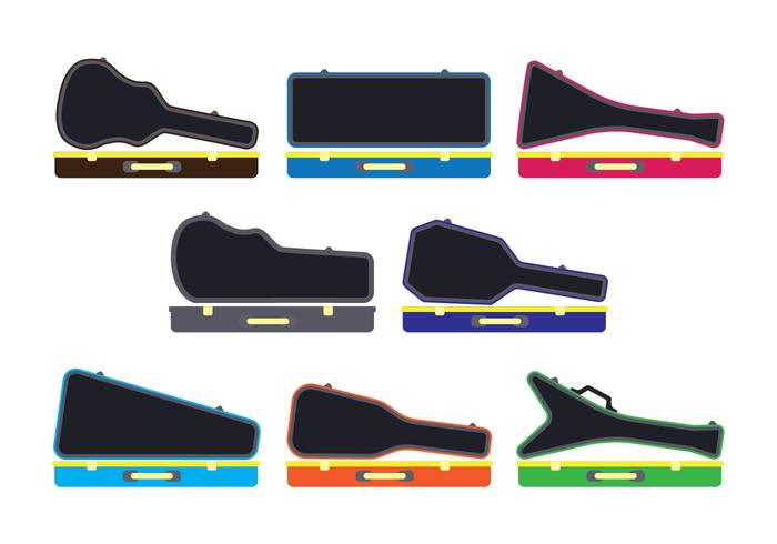 Guitar Case Vector Set