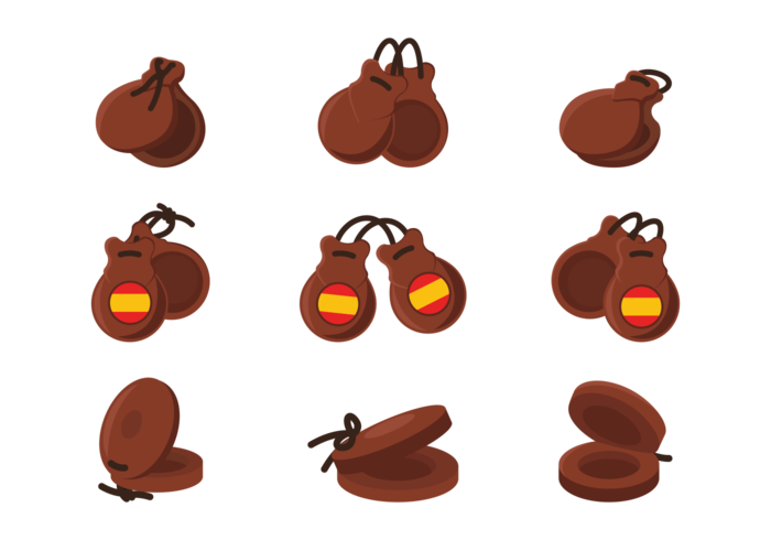 Castanets Icons Vector