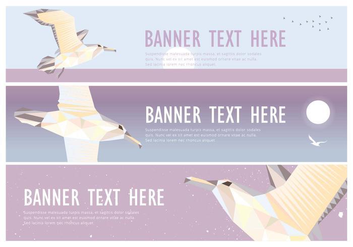 Web Banner Albatros Low Poly Vector