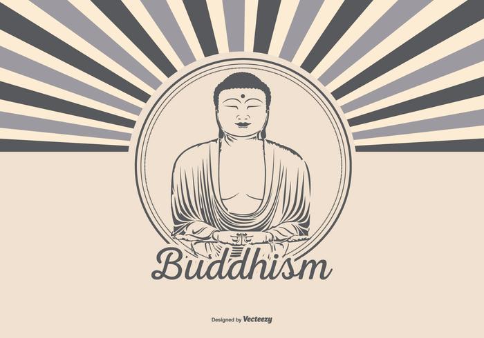 Retro Style Buddism Illustration