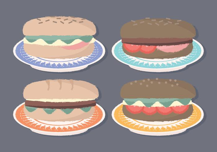 Vector Hand Drawn Sandwiches