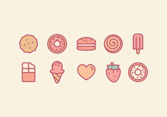 Vector Sweets Icons