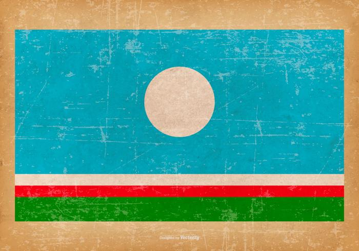 Grunge Flag of Sakha Republic