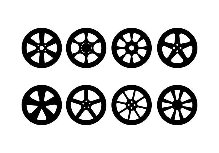 Bil Hubcap Vector Set
