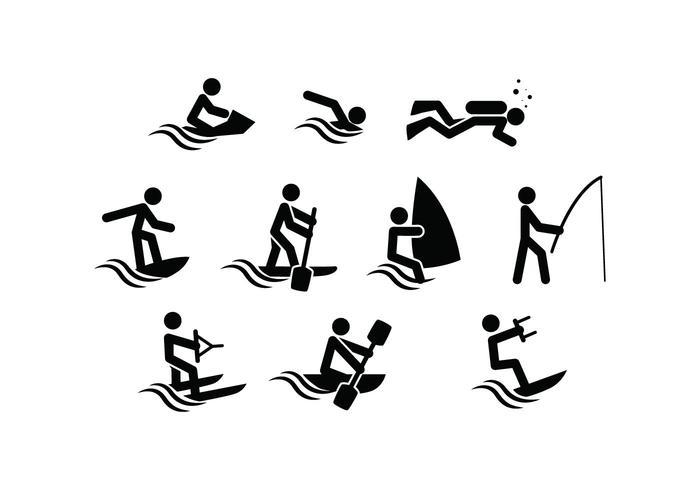 Vettore di icona di sport acquatici gratis
