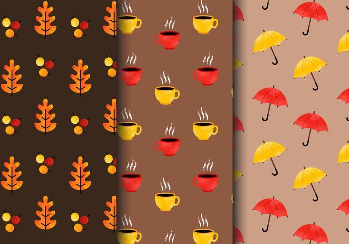 Free Vintage Autumn Patterns vector