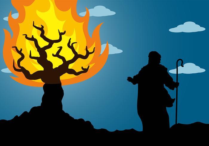 Burning Bush Background Vector