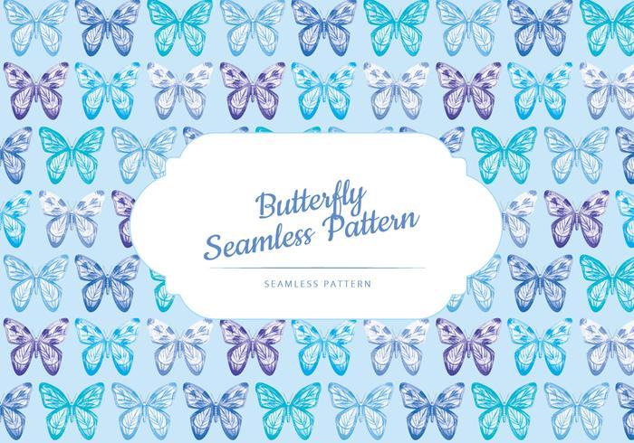 Padrão de borboleta vetorial