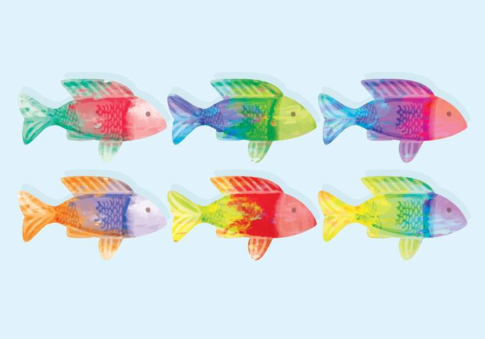 Vector Watercolor Fish