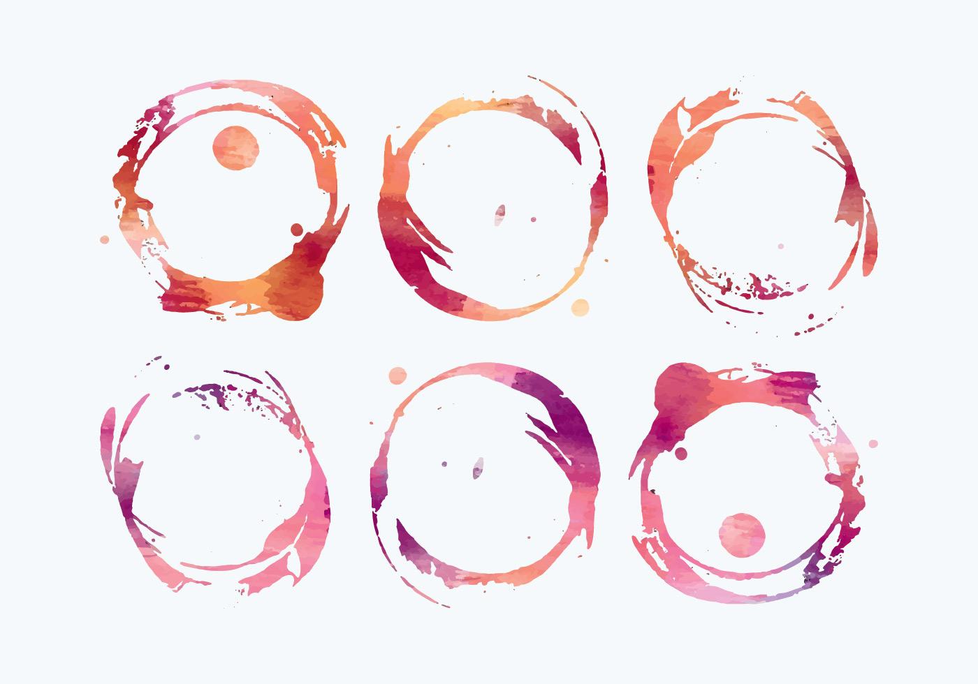 vector watercolor wine stains download free vector art Ink Splat Vector Vector Banner Shapes