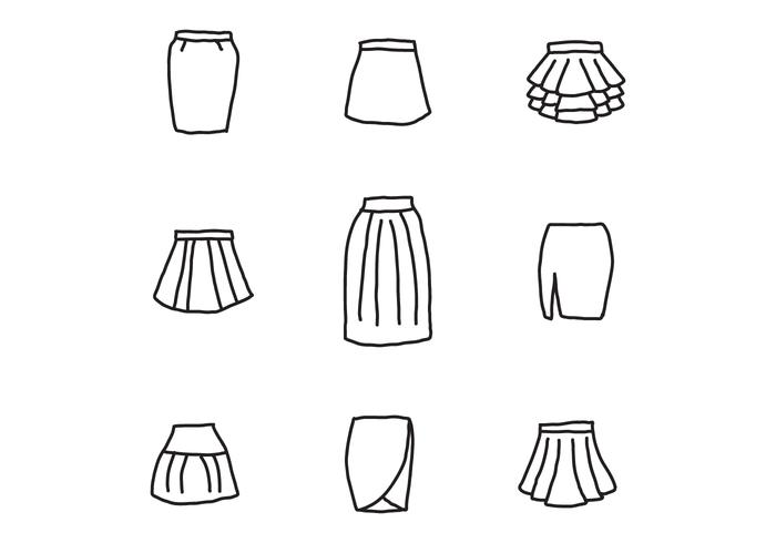 Conjunto de skits negro y blanco