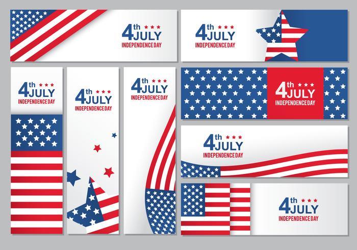 Dia da independência dos EUA vetor