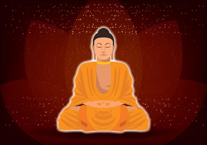 Buddha Lotus Position vector