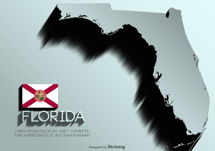 Carte vectorielle Floride