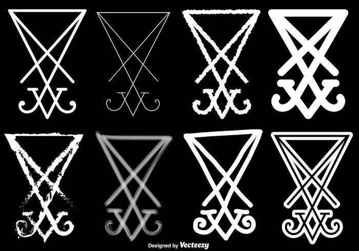 Vector Set Van Lucifer Symbool