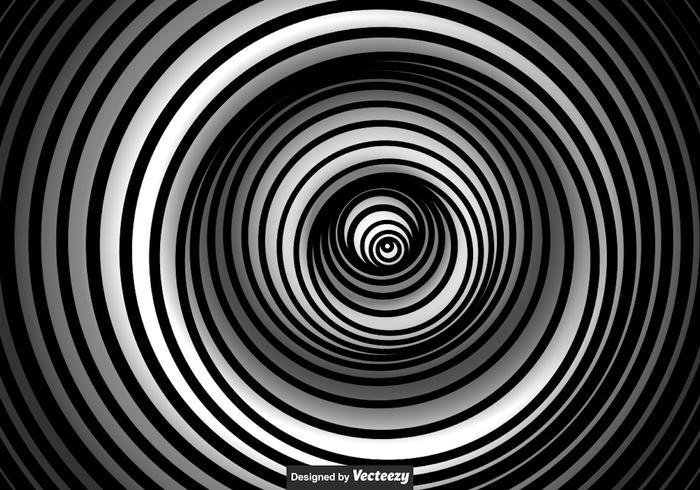Vector Black And White Vertigo Background