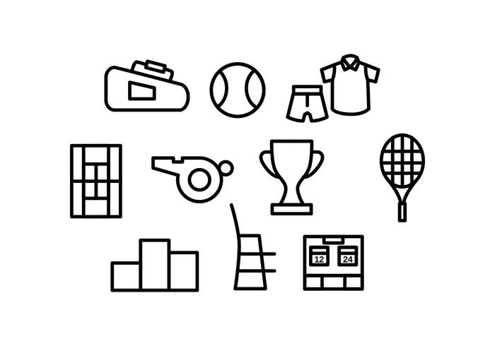 Gratis Tennis Line Icon Vector