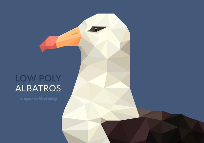 Bajo Poly Albatros Ilustración vectorial