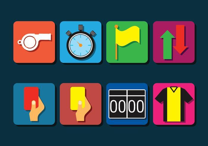Umpire Icons Set