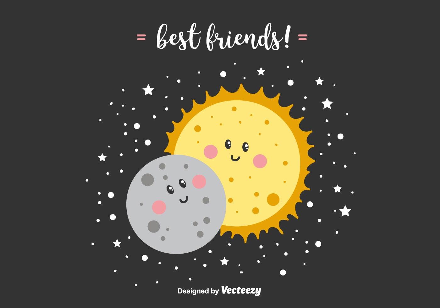 Best Friends Vector Background