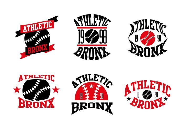 Bronx Baseball Logos Vector